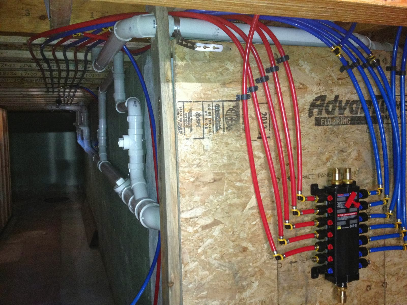 Pretty good lake house plumbing for Using pex for drain lines