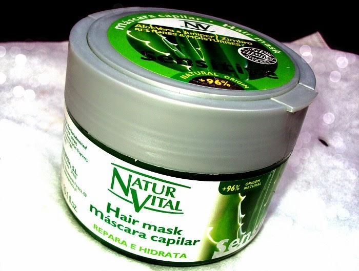 NaturVital, Sensitive Hair Mask Aloe Vera Juniper Zimbro (Maska dla wrażliwej skóry głowy)