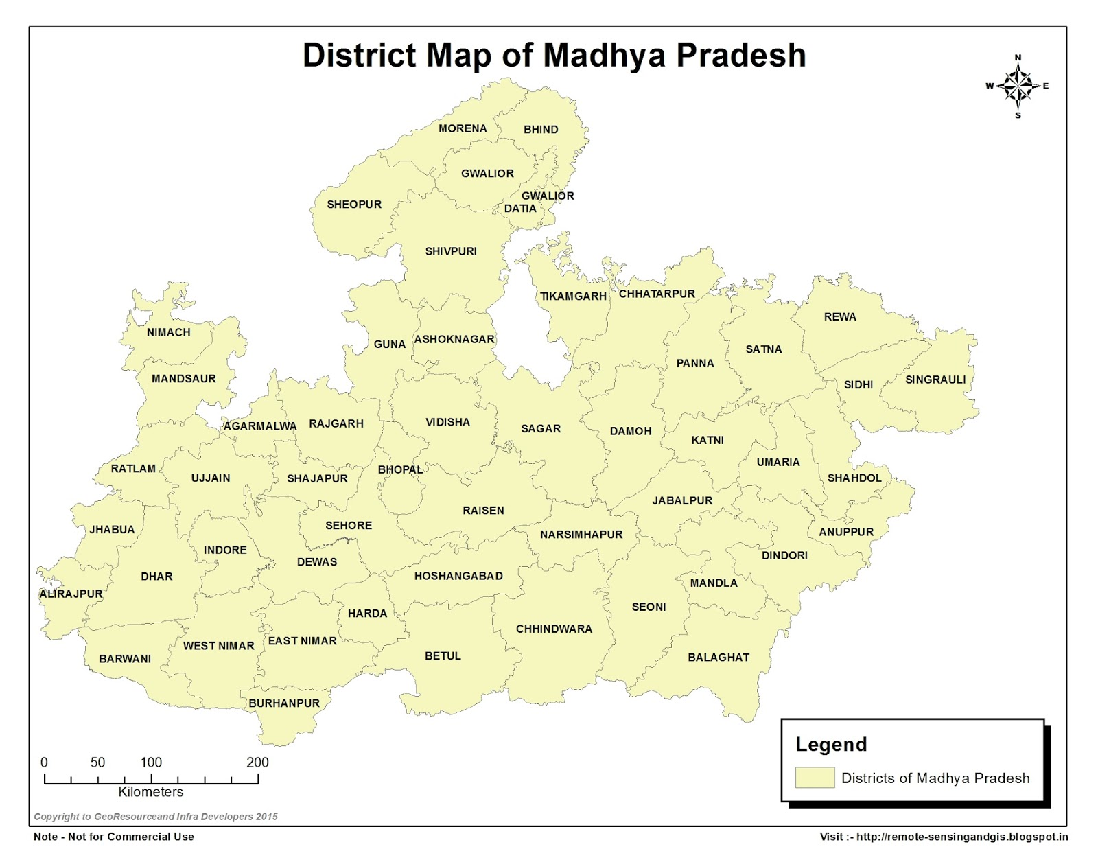 General Studies for Competitive Exams: District map of ...