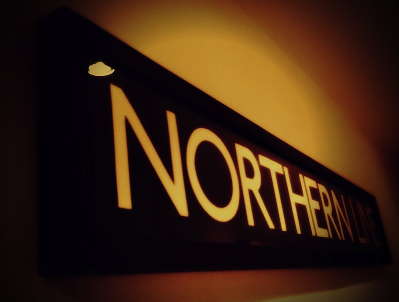 Northern Line sign from Home Barn_