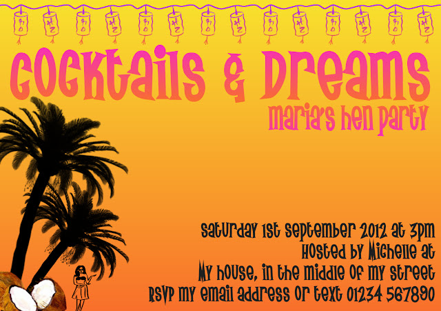 Hen Night Invitations {Cocktails & Dreams Hen Party}