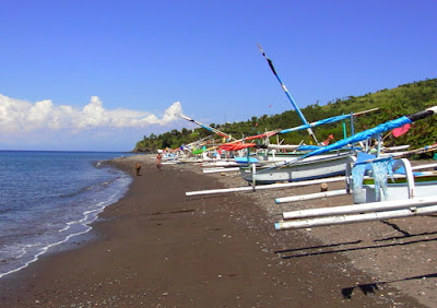 Amed Beach Black Sand