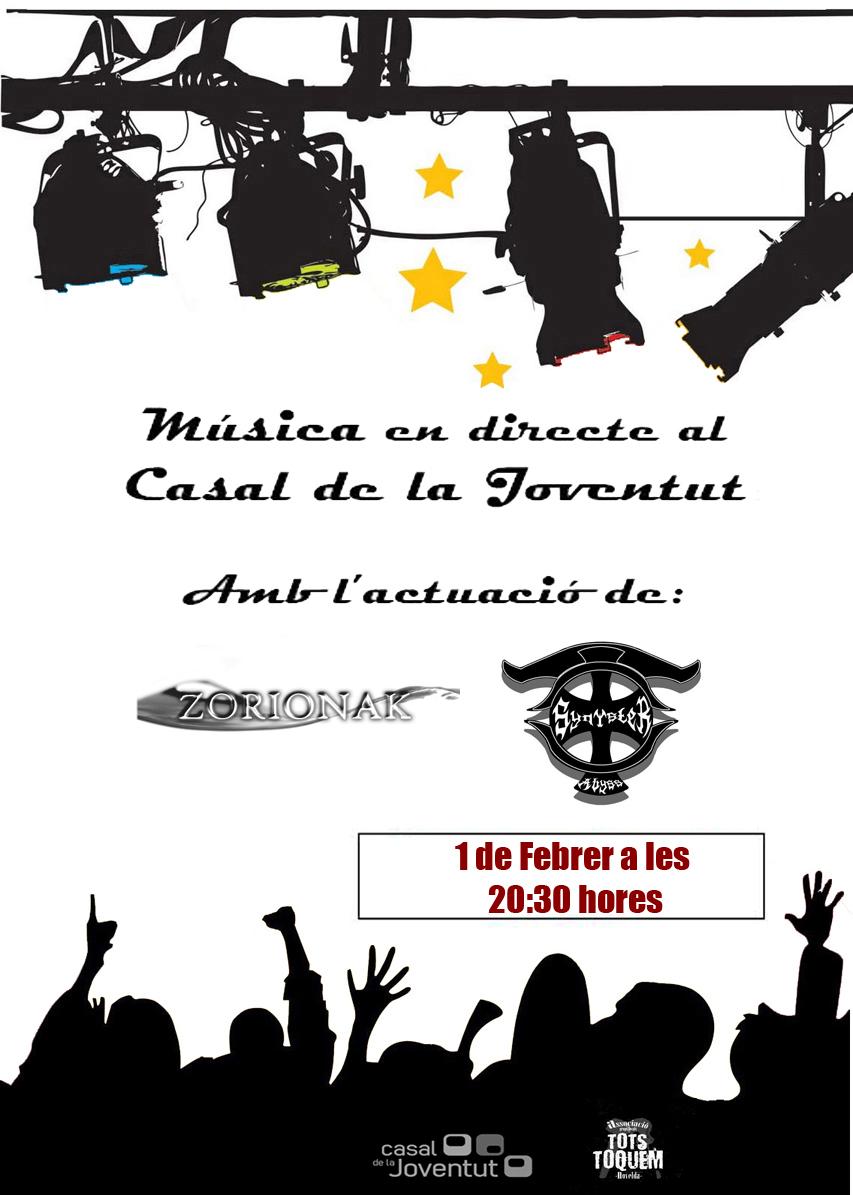 Ayuntamiento de Novelda CARTEL+MUSICA+EN+DIRECTO_1_FEBRERO MÚSICA EN DIRECTO EN EL CASAL DE LA JOVENTUT