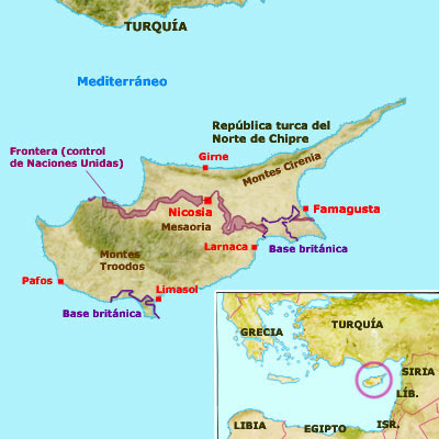 Chipre mapa