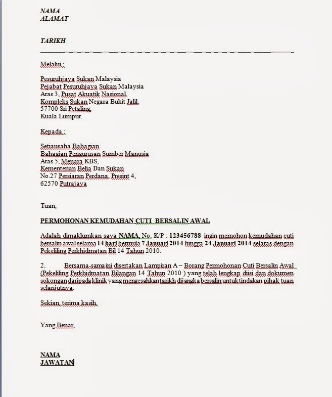 Image Result For Contoh Surat Kuasa Yg Simple