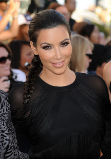 Kim Kardashian elegant side braid