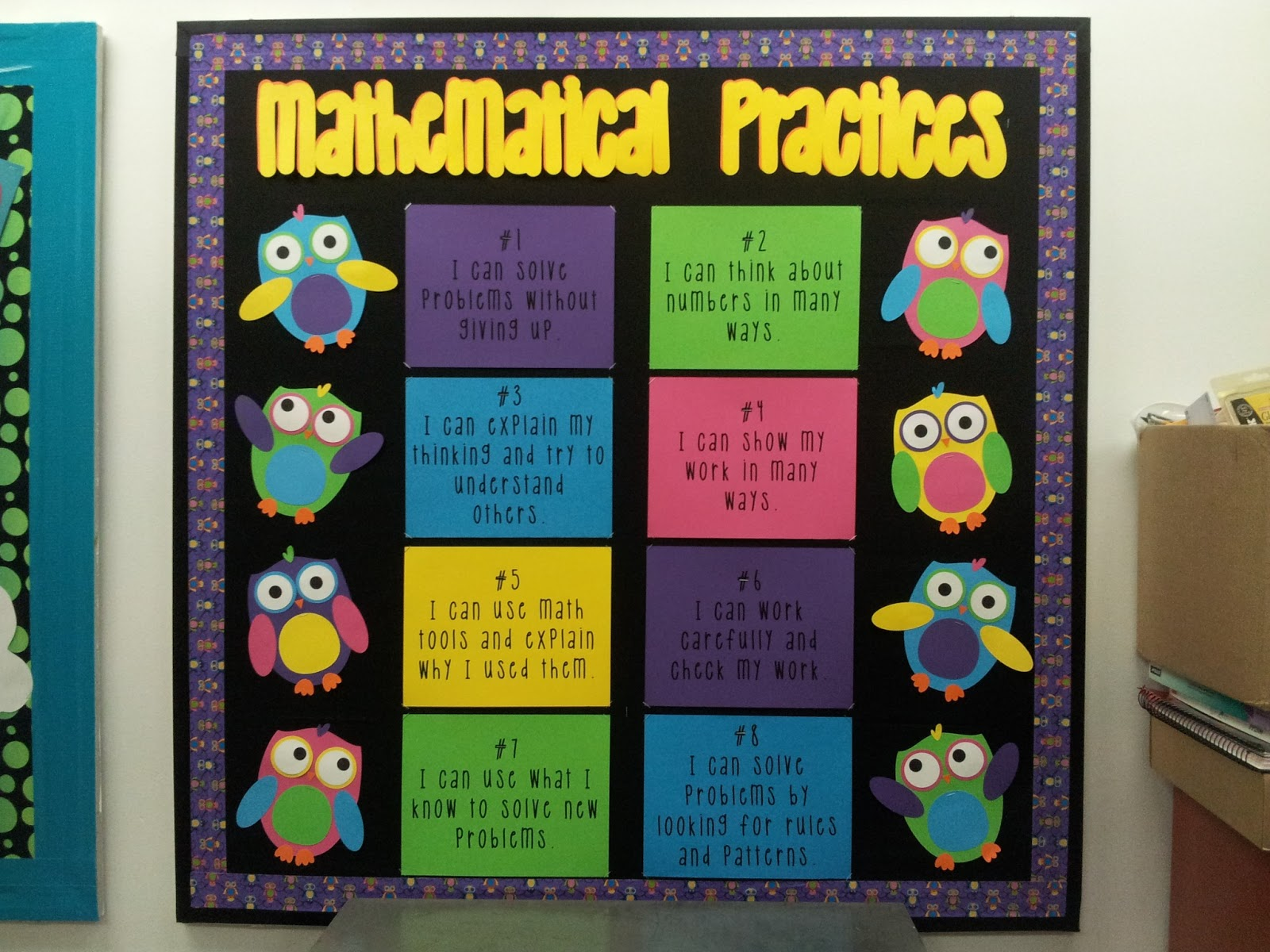 Classroom Decor Math ~ Math by tori standards for mathematical practices