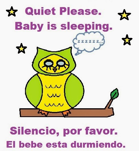 sleeping baby sign, sleeping owl