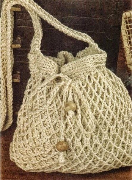 Bolso moderno tejido al crochet con esquemas