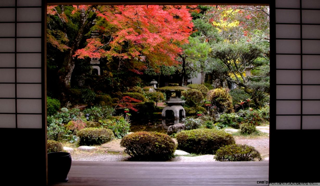 Traditional Japanese Garden HD desktop wallpaper  High Definition