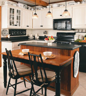 How About A Black U0026 White Country Kitchen!