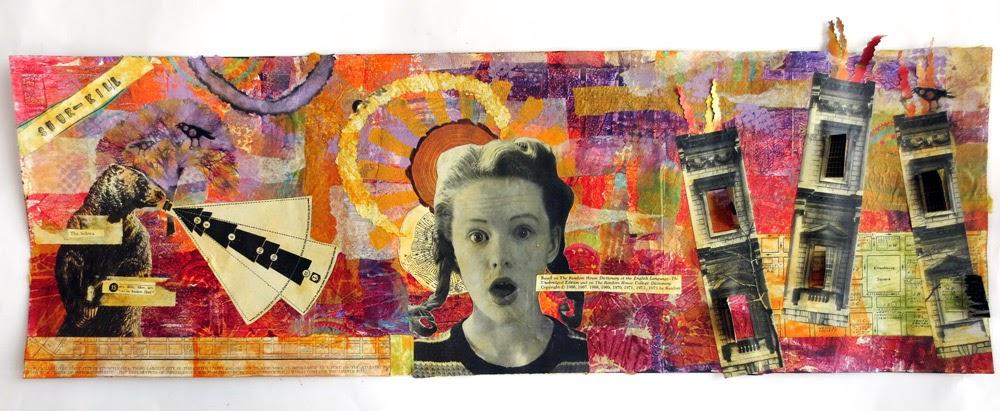 my finished collage triptych