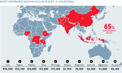 countries with most newborn deaths