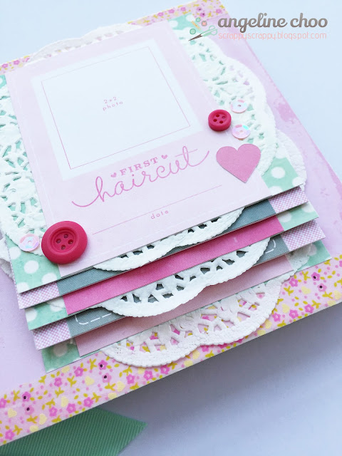 ScrappyScrappy: Love my girl - Baby mini album #scrappyscrappy #minialbum