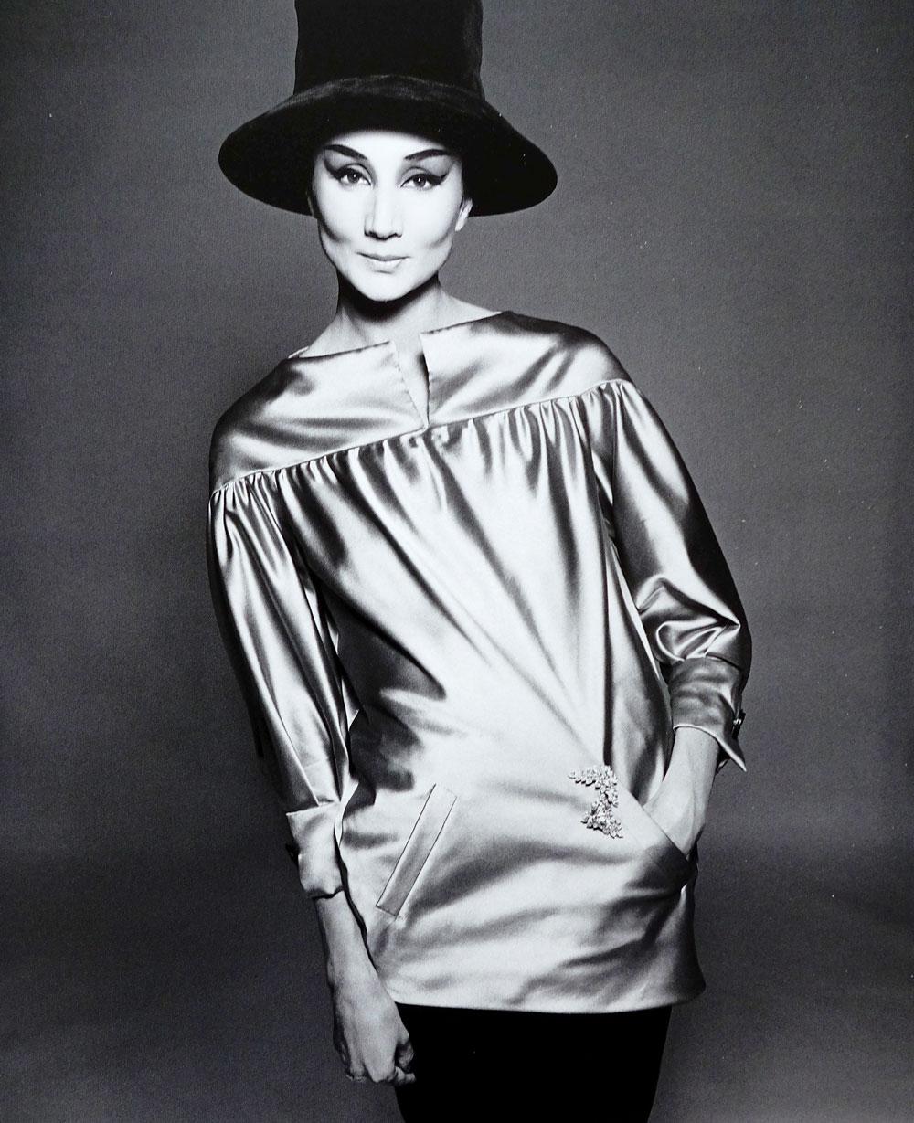 Yves Saint Laurent blouse in Women's Wear Daily July 1974