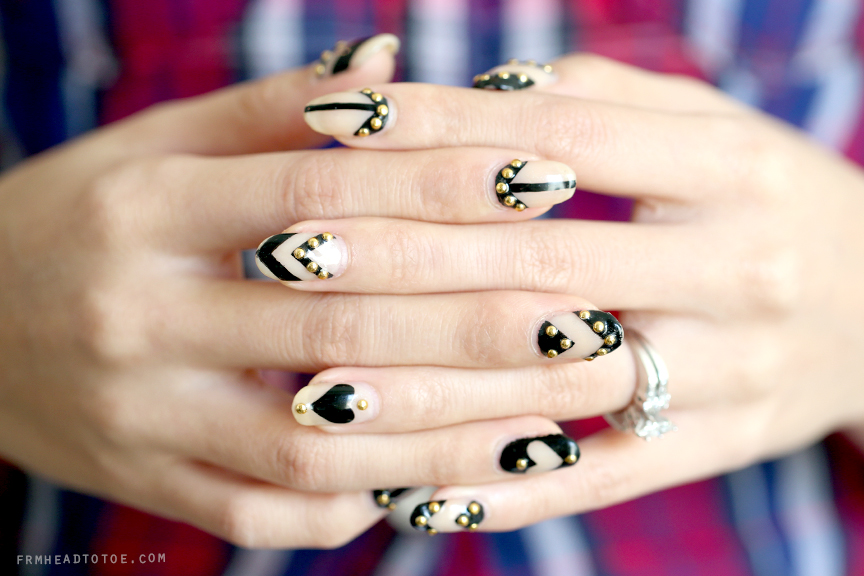Manicure monday graphic nail art by jessica tong from head to toe manicure monday graphic nail art by jessica tong prinsesfo Choice Image