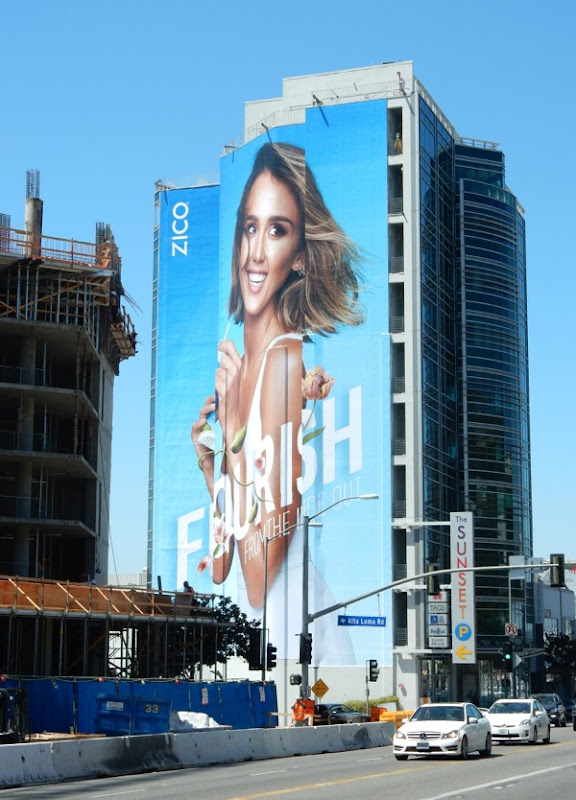 Giant Zico Coconut Water Flourish from the inside billboard