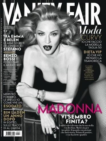 Madonna na capa de Vanity Fair italiana (Foto: Divulgação)