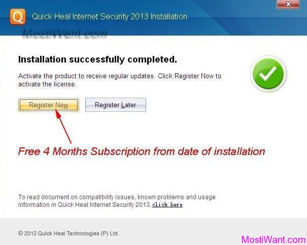 Quick Heal Internet Security 2013 Product Key, Full Version