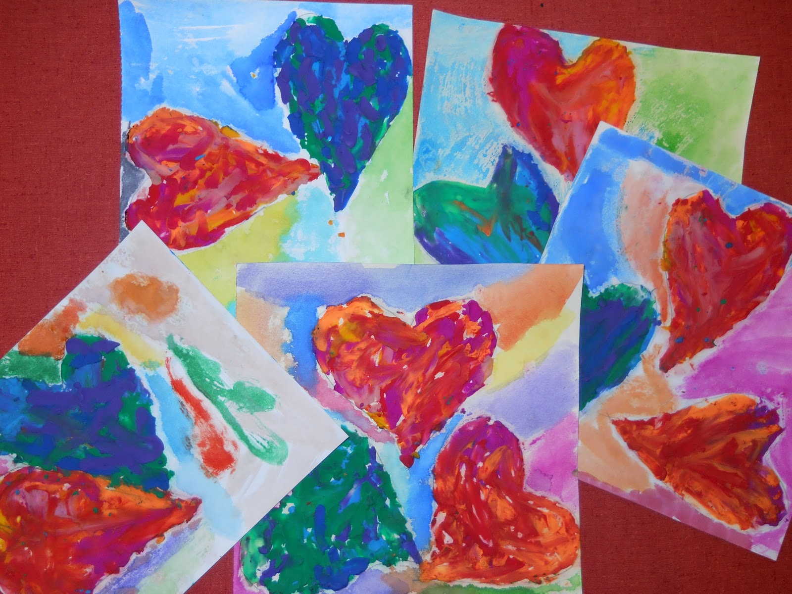 the elementary art room   jim dine hearts