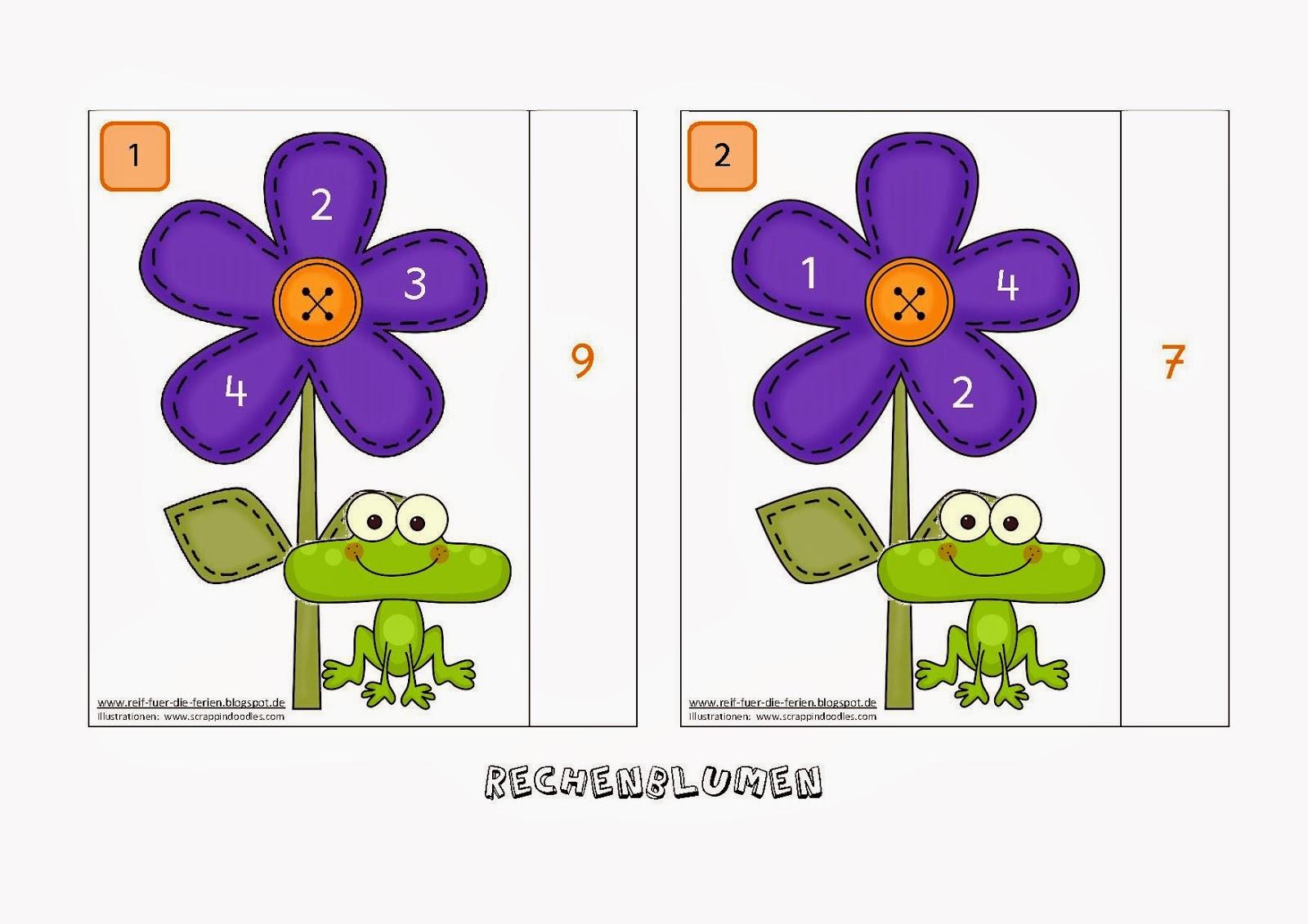 Rechenblumen bis 10