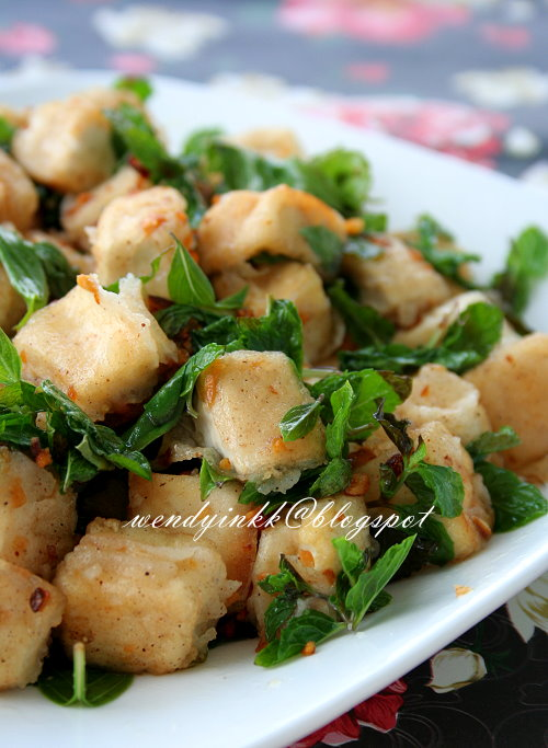 ... : Pan Fried Spicy Tofu Cubes with Basil and Mint - Pressed Tofu # 2