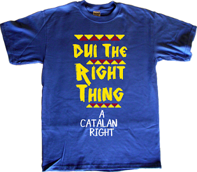 dui declaració unilateral d'independència independence freedom catalonia spike lee do the right thing movie t-shirt ephemeral-t-shirts