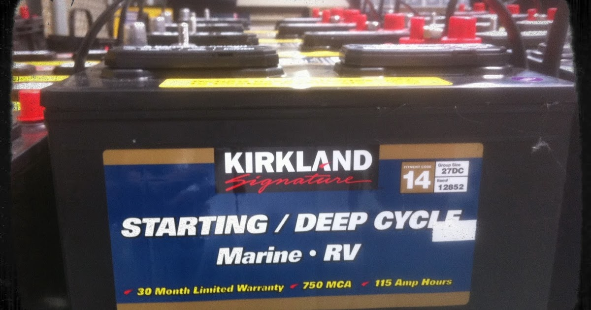 Costco Marine Battery >> Battery Testing Deep Cycle Battery At Costco