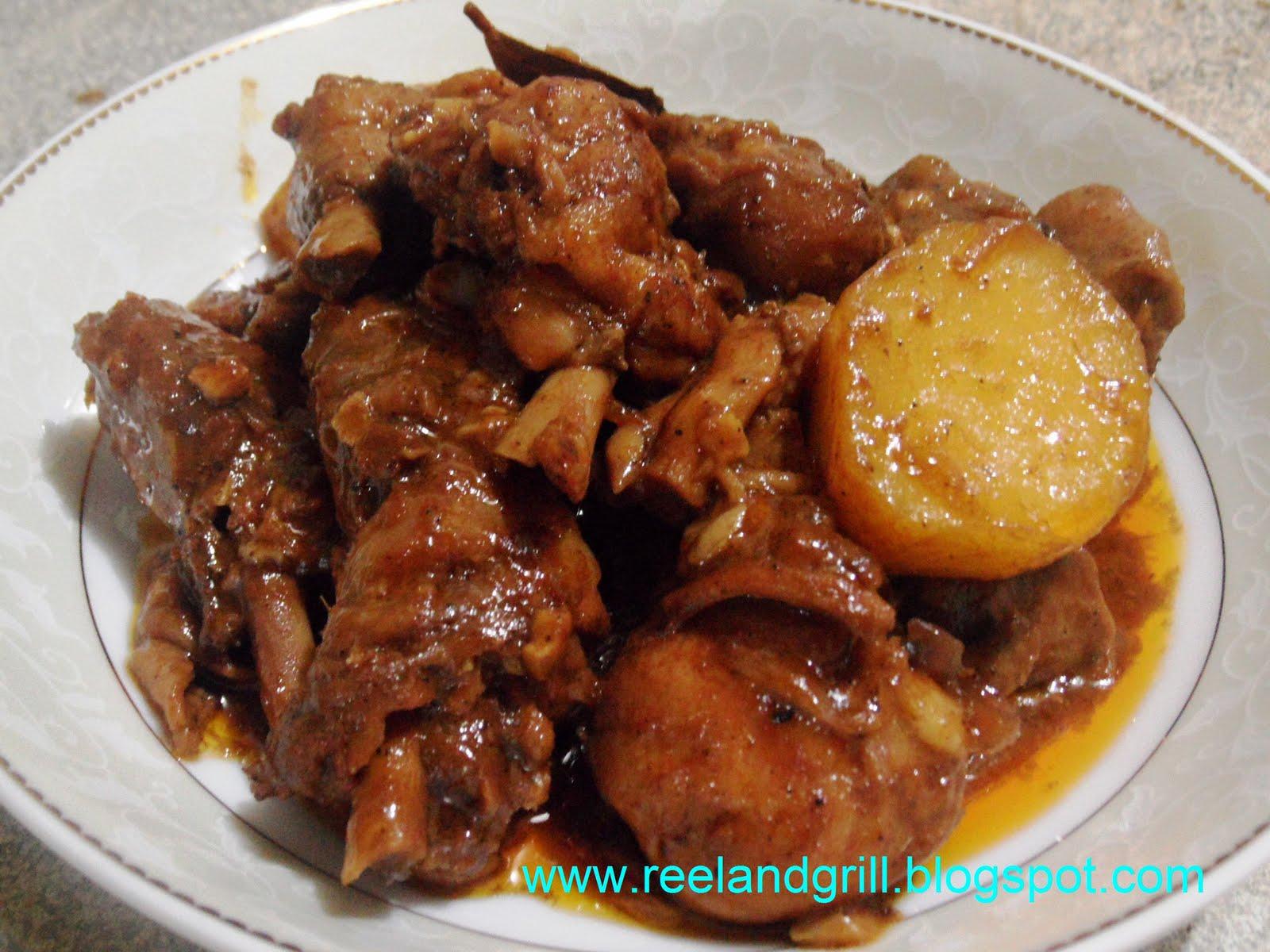 Reel and Grill: Adobong Manok Sa Tomato Sauce (Chicken ...