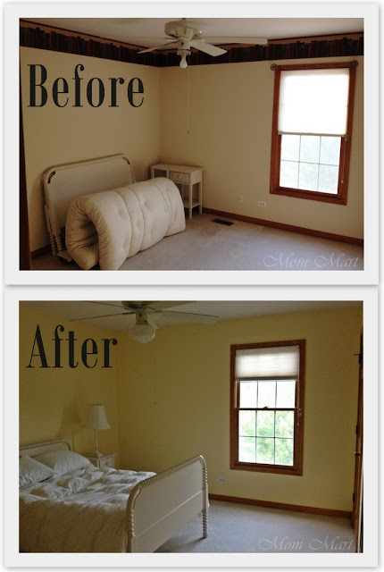Before and After Bedroom progress