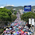 Estados/ Marchan CNTE y normalistas al Centro de Morelia; exigen liberación de 8 compañeros