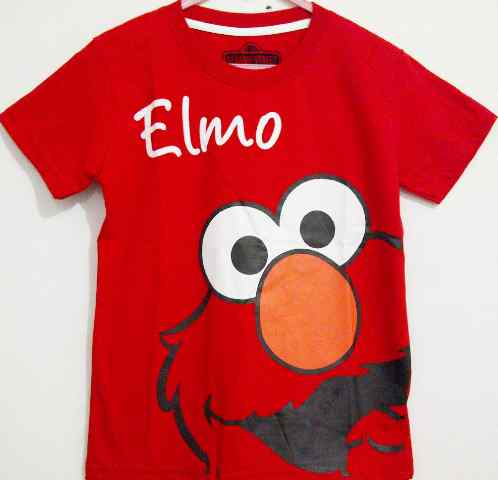 Baju Anak Karakter Elmo Merah Size 1 - 6 Y