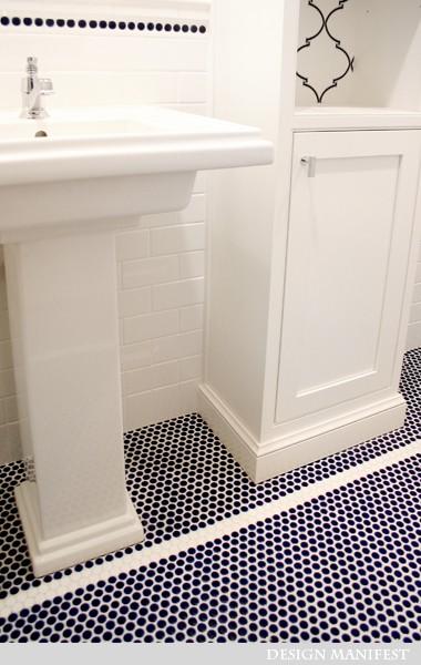 White gold navy amp white bathroom love