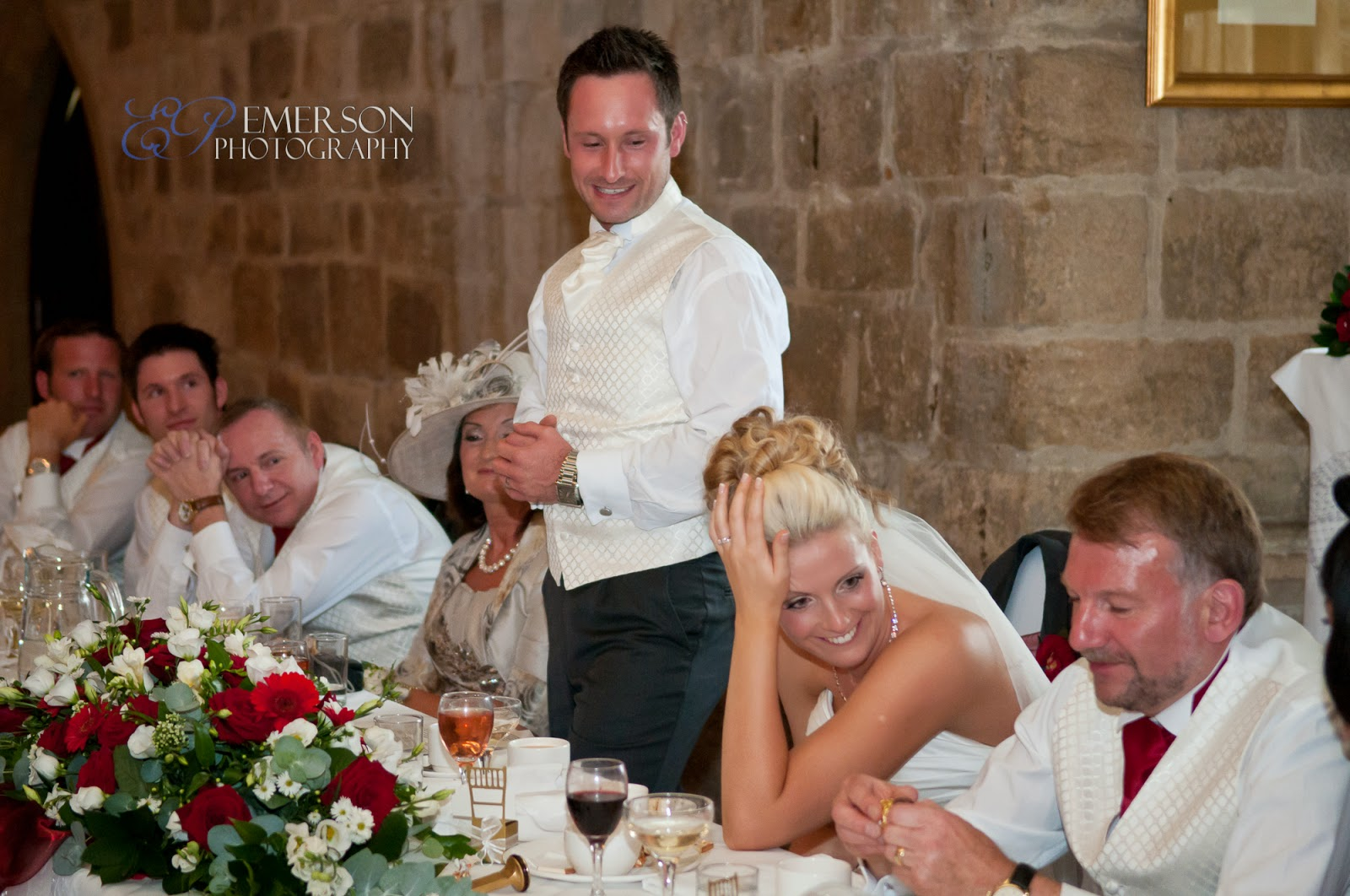 Emerson Photography at Langley Castle wedding, Hexham