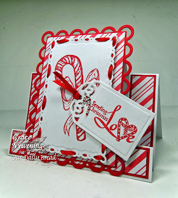 Stamps - Our Daily Bread Designs Candy Cane, Jesus is the Reason, ODBD Custom Recipe Card and Tags Die