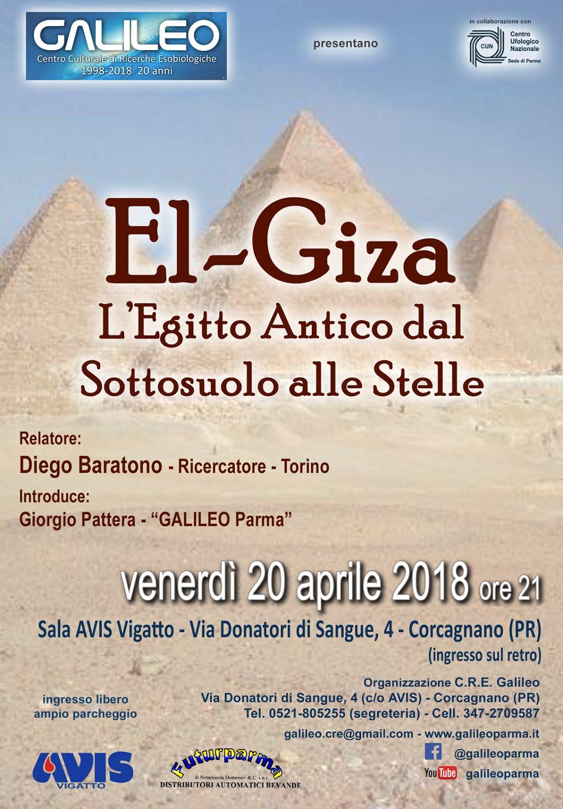 EL - GIZA: L'EGITTO ANTICO DAL SOTTOSUOLO ALLE STELLE