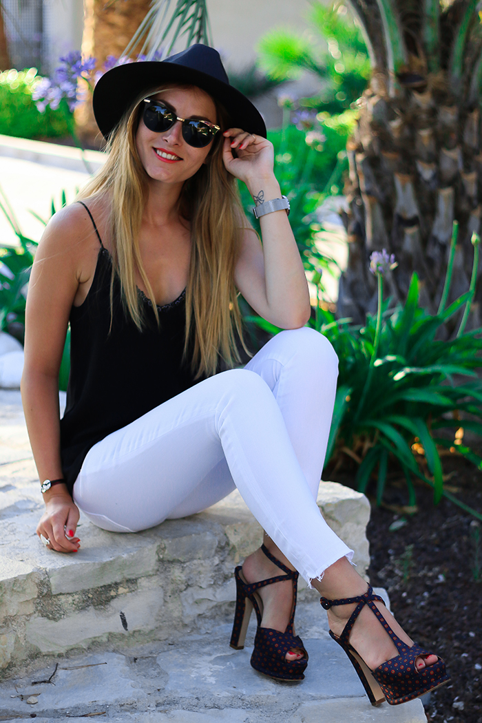 white black summer outfit