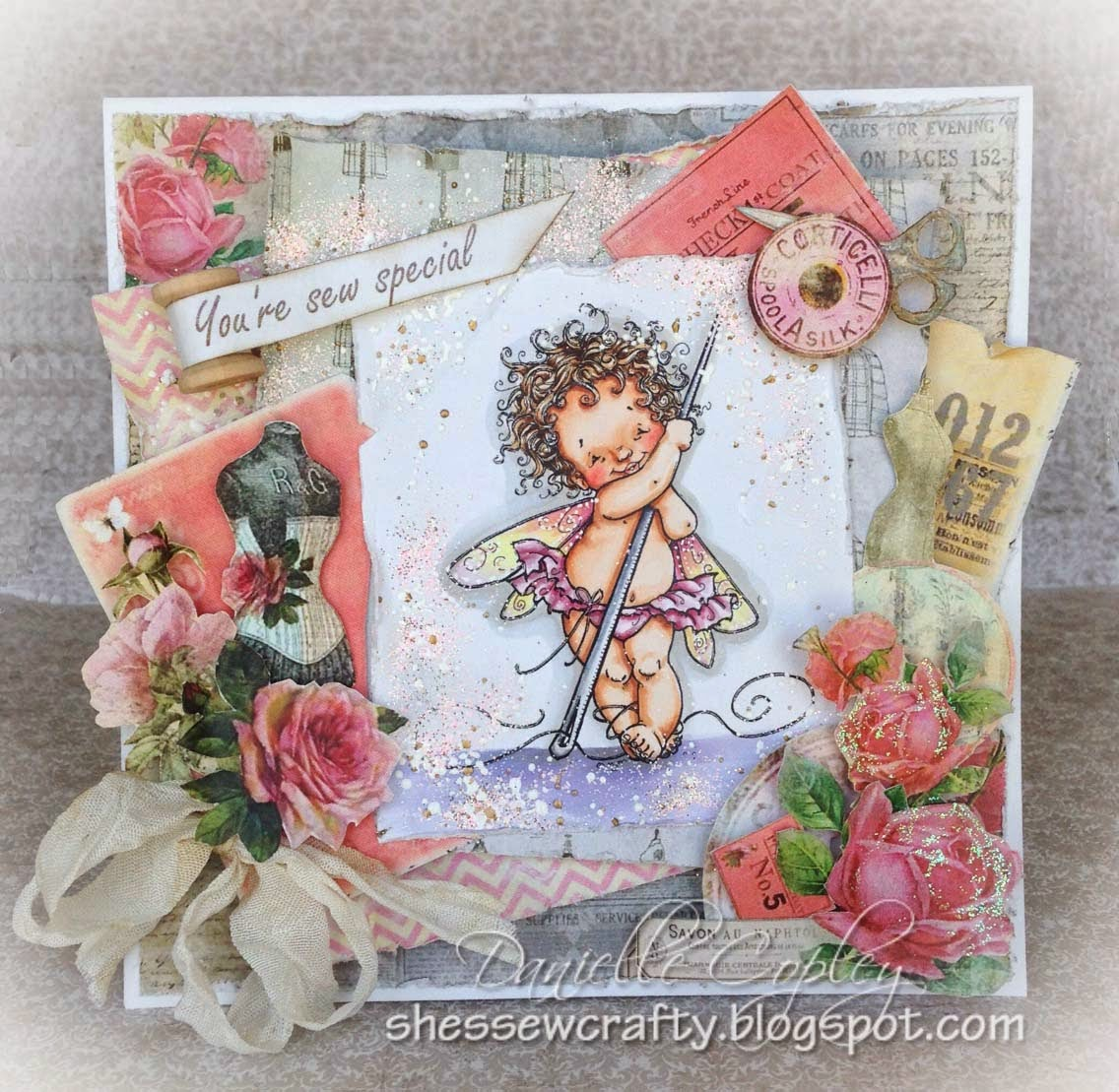 Mo's Digital Pencil, Fairy Needle using Marion Smith's Garment District for She's Sew Crafty and Scrapbook Maven