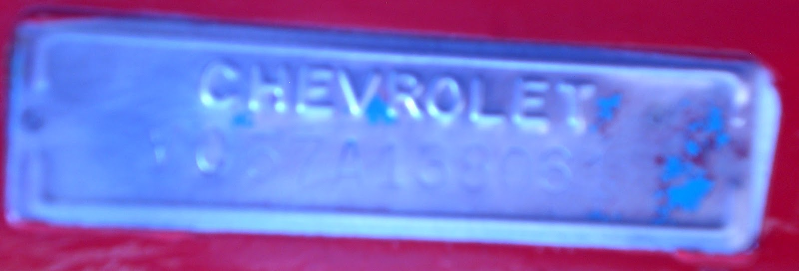 Robs 1957 Chevy Bel Air Restoration Project May 2012 Chevrolet Vin Tag For Those Of You Who Are Interested Here Is The Meaning V V8 Engine C Belair Cheaper Versions Were 150 And 210