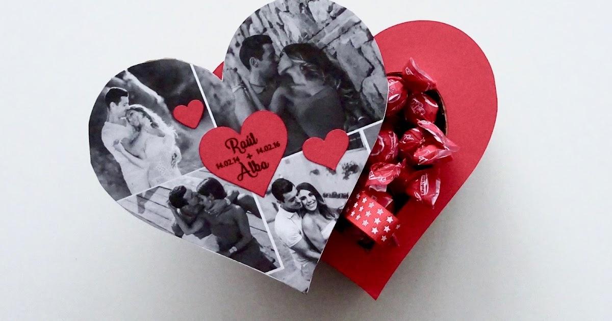 Scraparizate caja coraz n bombonera reciclaje - Como hacer un corazon con fotos ...
