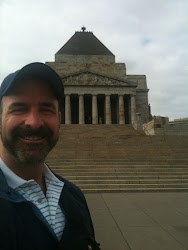 At the Shrine of Remembrance: for fallen WWI Australian soliders