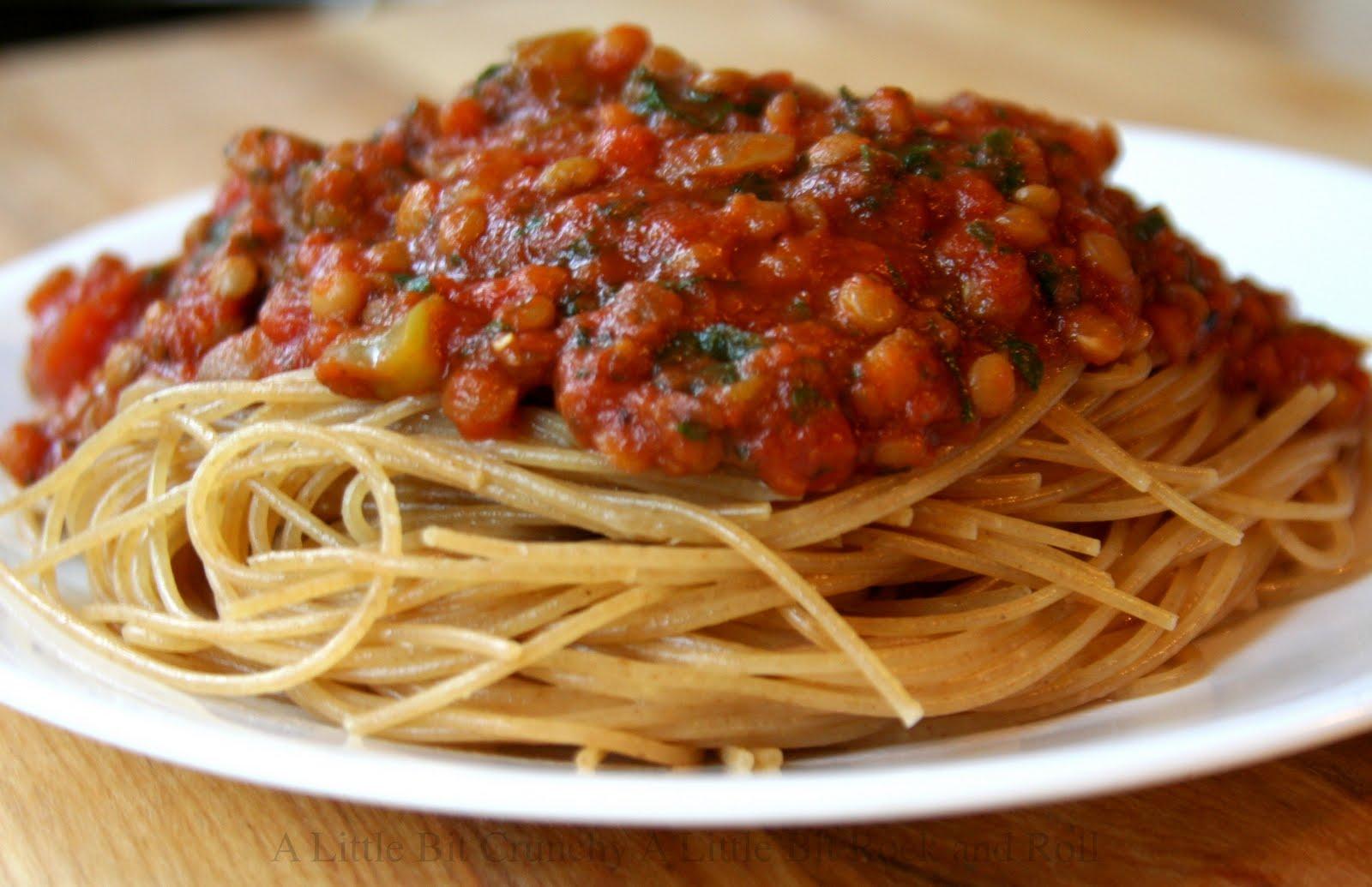 ... Little Bit Crunchy A Little Bit Rock and Roll: Lentil Spaghetti Sauce