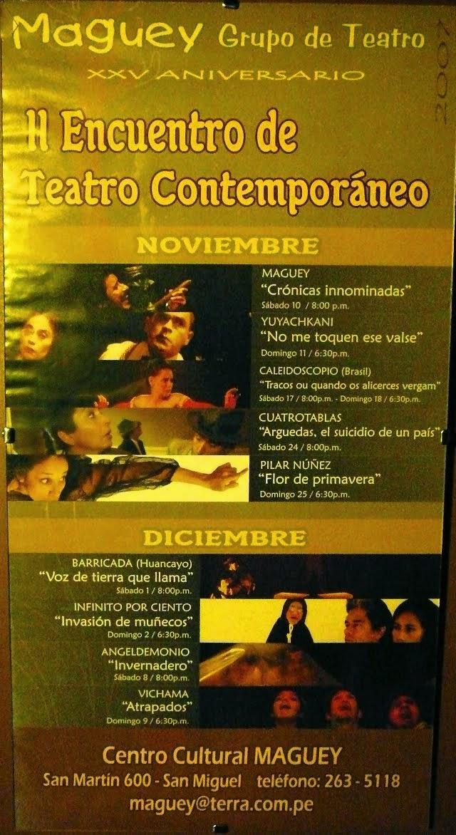 FESTIVAL DE TEATRO CONTEMPORÁNEO