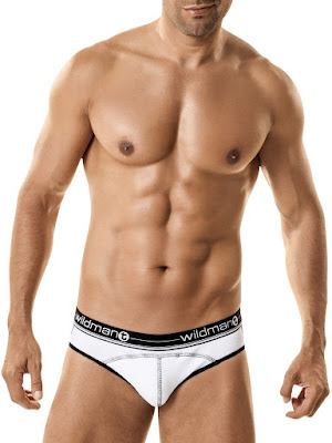 WildmanT Stitch Short Brief Underwear White Gayrado