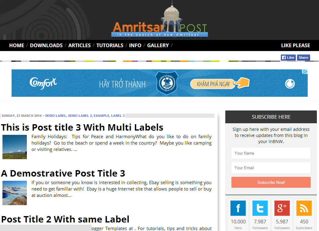 AmritsarPost Blogger Template