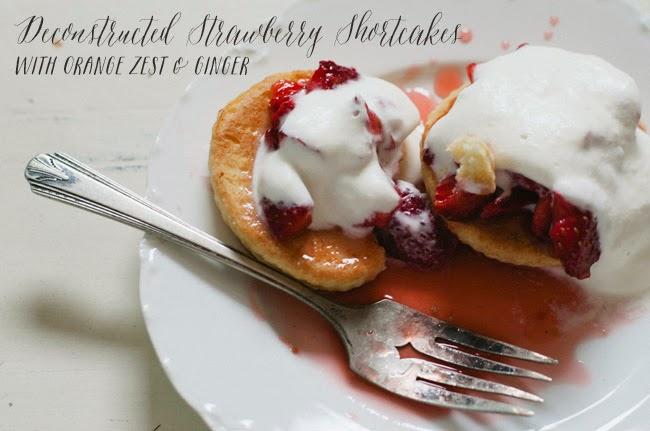 Vintage Whites Blog Deconstructed Strawberry Shortcakes