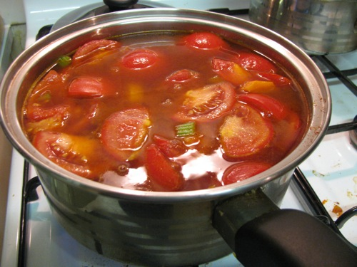 Green Gourmet Giraffe: Smoky tomato soup and recent cooking