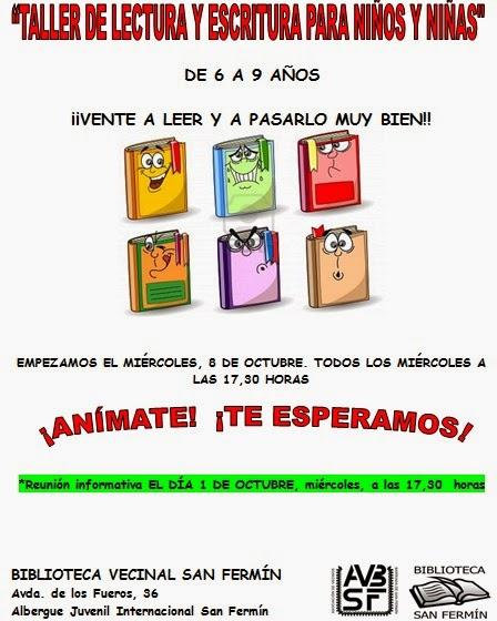 AAVV San Fermín - Taller de lectura y escritura