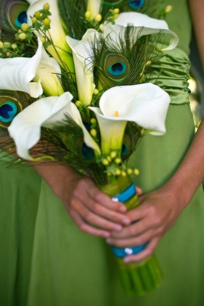 Ramos de Flores Blancos y Verdes