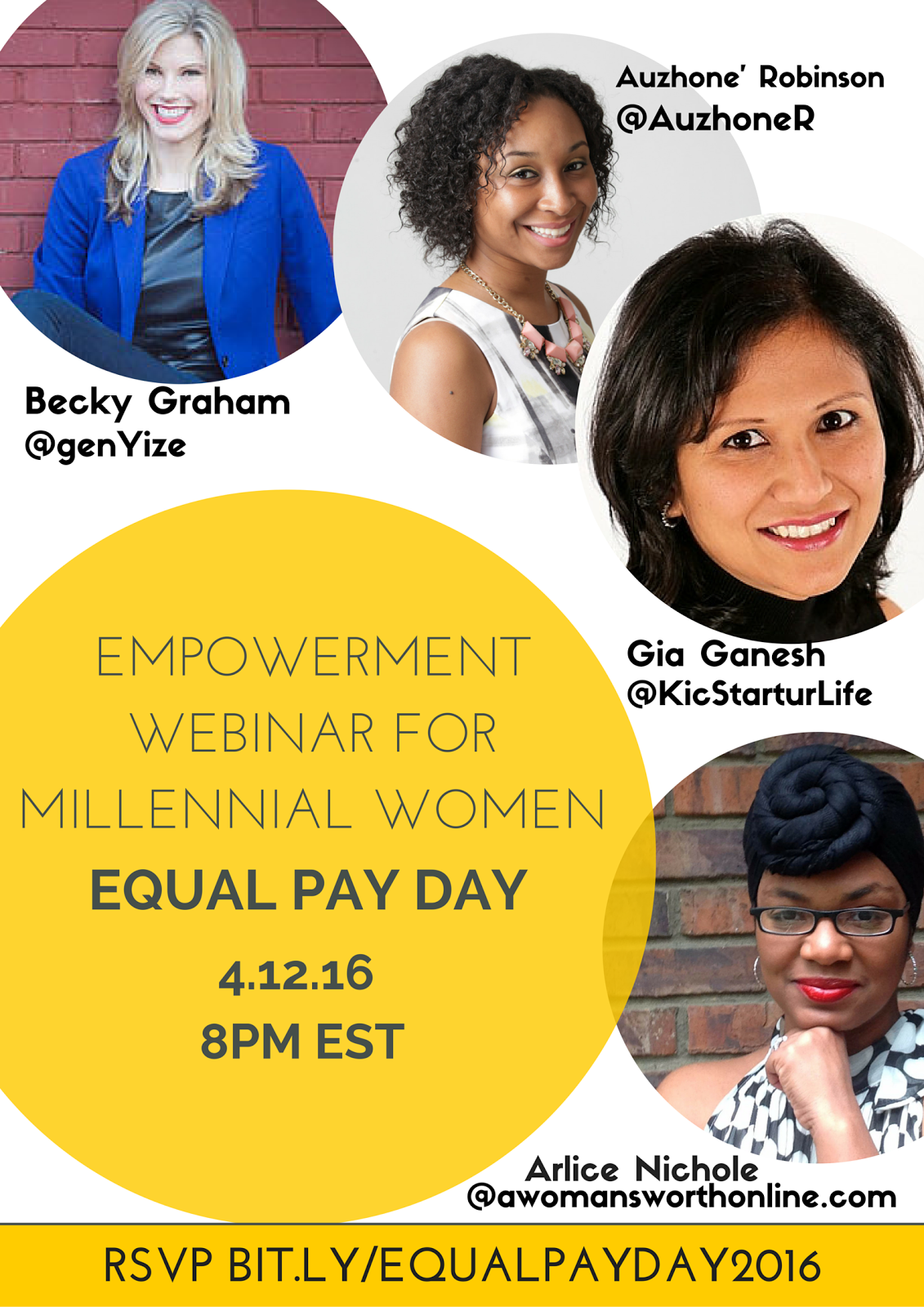 Join us for an empowering #EqualPayDay webinar!
